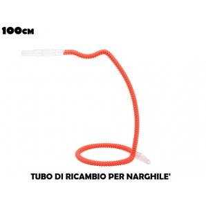 TUBO DI RICAMBIO PER NARGHILE' - LUNGHEZZA 100CM COLORE ROSSO 8,99€
