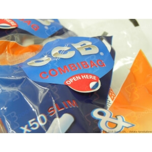 OCB COMBIBAG 50 FILTRI SLIM 6MM + 50 CARTINE OCB ORANGE - 1 BUSTINA 0,69 €