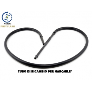 TUBO DI RICAMBIO IN SILICONE PER NARGHILE' - COLORE NERO | LUNGHEZZA 180CM 19,89€