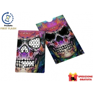 GRINDER CARD COLORED SKULL TESCHIO COLORATO by V-SYNDICATE - TRITATABACCO FORMATO TESSERA TESCHIO COLORATO 9,99 €