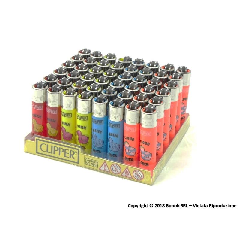 CLIPPER MICRO PAPERETTE - BOX DA 48 ACCENDINI A PIETRINA RICARICABILI CON SISTEMA DI PRESSATURA DEL TABACCO 28,79€