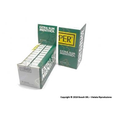 CLIPPER FILTRI SPUGNA RUVIDI 5,5MM EXTRA SLIM AL MENTOLO - BOX DA 20 ASTUCCI DA 120 FILTRINI