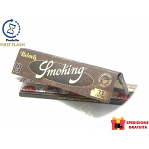 CARTINE SMOKING BROWN KING SIZE SLIM SENZA CLORO LUNGHE - 25 LIBRETTI 19,25 €