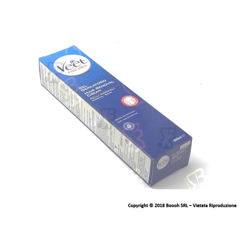 VEET GEL DEPILATORIO UOMO - 1 CONFEZIONE DA 200 ml e 1 SPATOLA 7,89€