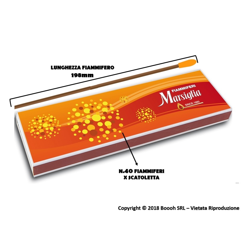 FIAMMIFERI CAMINETTO MARSIGLIA | SCATOLETTA DA 40PZ O BOX INTERO 3,29€
