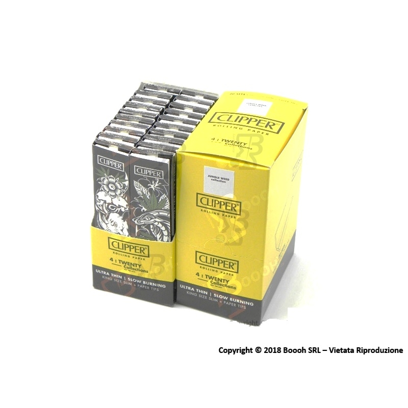 CLIPPER CARTINE LUNGHE KSS + FILTRI CARTA SIMPLE JUNGLE WEED KSS - BOX DA 20 LIBRETTI 20,59 €