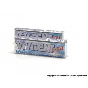 VIVIDENT XYLIT WHITE PEPPERMINT CHEWING GUM - 2 STICK O CONFEZIONE COMPLETA 0,99 €