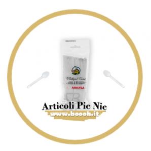 CUCCHIAINI DA DOLCE O CAFFE' ARISTEA IN PLASTICA - 1 BLISTER CONTIENE 40 POSATE 2,49€
