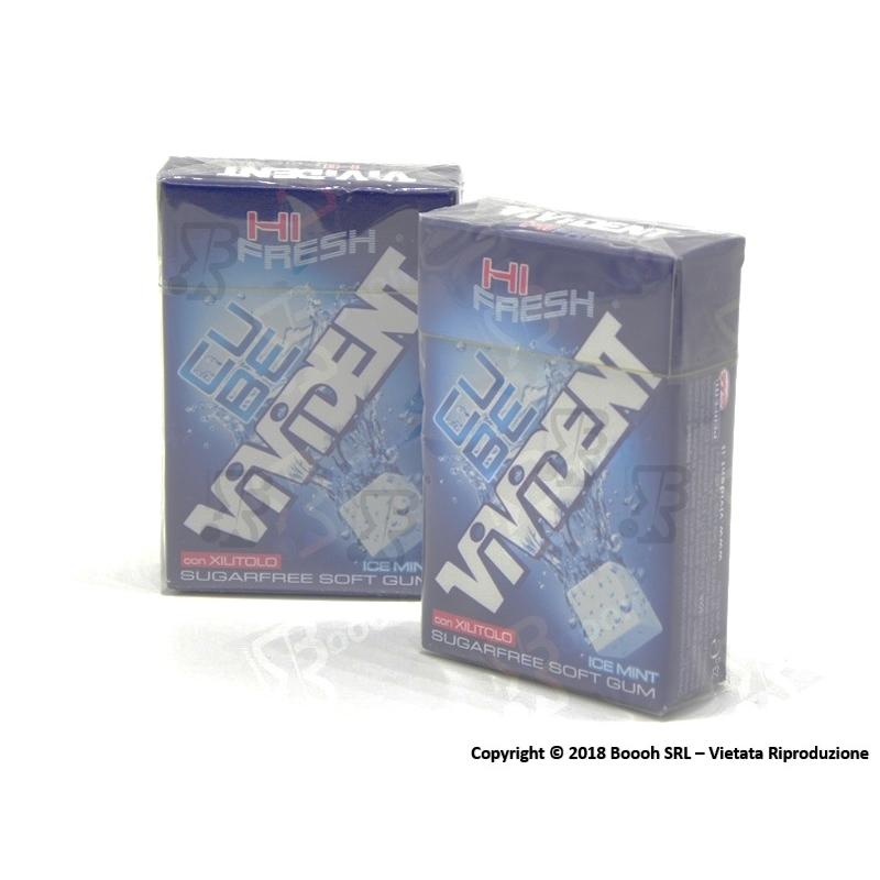 VIVIDENT ICE CUBE MINT BLU CHEWING GUM - 2 ASTUCCI O CONFEZIONE COMPLETA 1,69€