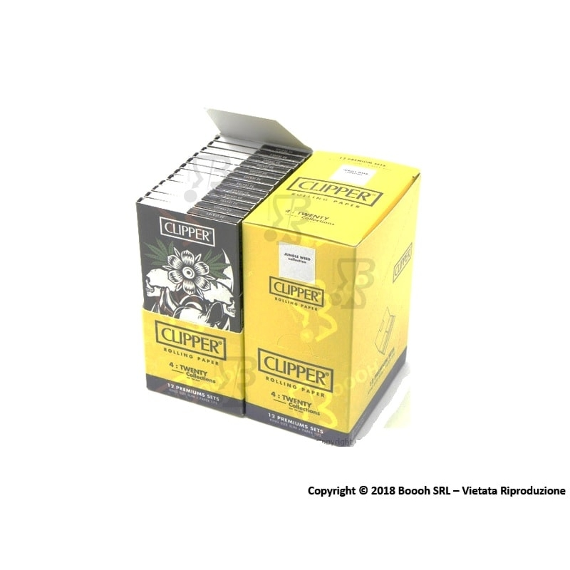 CLIPPER CARTINE LUNGHE KSS + FILTRI CARTA PREMIUM JUNGLE WEED - BOX DA 12 LIBRETTI 29,59 €