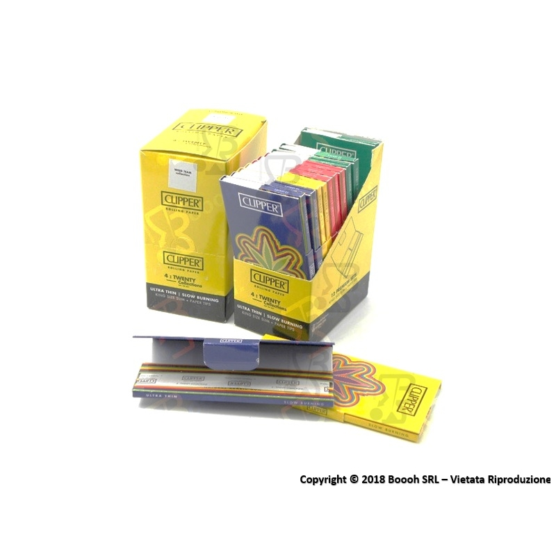 CLIPPER CARTINE LUNGHE KSS + FILTRI CARTA PREMIUM WEED TEAM STREETSTYLE - BOX DA 12 LIBRETTI 29,49€