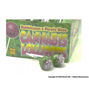 LECCA LECCA LOLLIPOPS GUSTO PURPLE HAZE CON AROMA CANNABIS (NO THC) - 5 LOLLIPOPS 3,25€