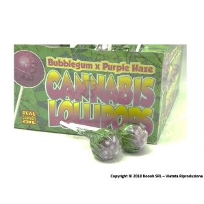 LOLLIPOPS GUSTO PURPLE HAZE CON AROMA CANNABIS (NO THC) - 5 LOLLIPOPS 3,25 €