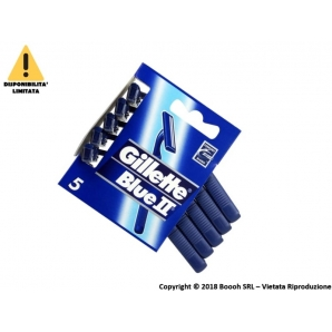GILLETTE BLUE II RASOI BILAMA - LAMETTE USA E GETTA | BLISTER IN CARTONCINO DA 5 2,49 €