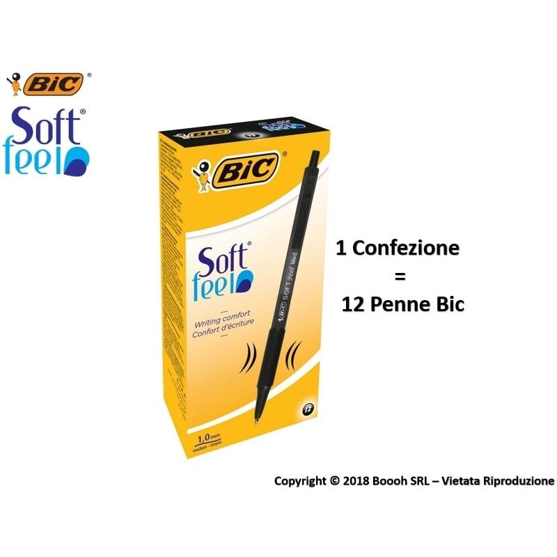 PENNA BIC NERA A SCATTO SOFT FEEL CLIC GRIP - SFUSE O CONFEZIONE COMPLETA 0,99€