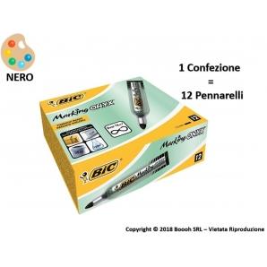 PENNARELLI MARCATORI INDELEBILI BIC MARKING ONYX 1482 COLORE NERO - 1 PEZZO O CONFEZIONE COMPLETA 2,69€