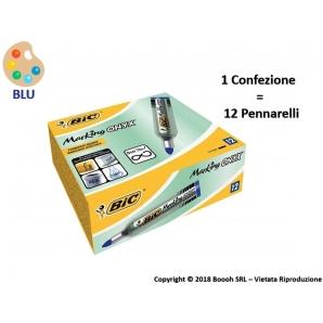 PENNARELLI MARCATORI INDELEBILI BIC MARKING ONYX 1482 COLORE BLU - 1 PEZZO O CONFEZIONE COMPLETA 2,69€