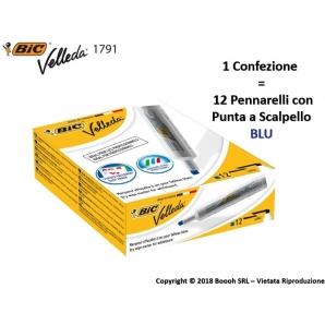 PENNARELLI BIC VELLEDA 1791 PUNTA A SCALPELLO COLORE BLU - IDEALE PER LAVAGNE | 1 PEZZO O CONFEZIONE COMPLETA 1,99€