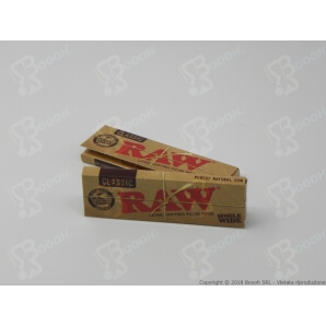 RAW CARTINE CORTE SINGOLE CANAPA 100% REGULAR SINGLE WIDE - 1 LIBRETTO DA 50 CARTINE 0,45 €