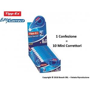 CORRETTORE TIPP-EX EASY CORRECT BIANCHETTO A NASTRO DA 12M - 1 PEZZO O CONFEZIONE DA 10 2,99€