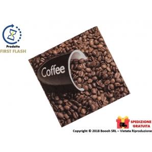 TOVAGLIOLI DI CARTA DECORATI CHICCHI DI CAFFE' - MISURA 33 X 33cm - 60 PEZZI | SPEDIZIONE GRATUITA 3,99€