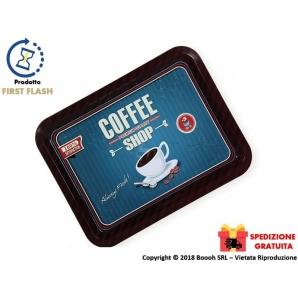 VASSOIO RETTANGOLARE IN METALLO - VINTAGE LOOK COFFEE PREMIUM SHOP | SPEDIZIONE GRATUITA 16,99€