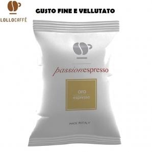 100 CAPSULE LOLLO CAFFE' PASSIONESPRESSO QUALITA' MISCELA ORO - COMPATIBILI SISTEMI NESPRESSO 20,99€