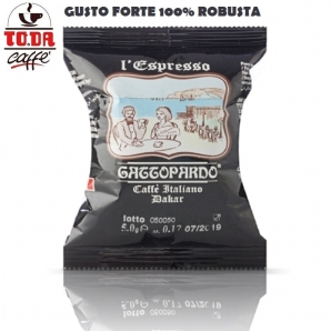 50 CAPSULE TO.DA CAFFE' IL MIO GATTOPARDO QUALITA' DAKAR - COMPATIBILI SISTEMI NESPRESSO 8,99€