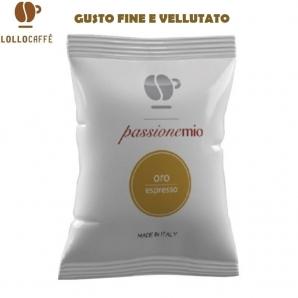 100 CAPSULE LOLLO CAFFE' PASSIONEMIO QUALITA' ORO - COMPATIBILI SISTEMI LAVAZZA A MODO MIO 19,99€