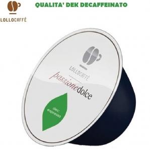 16 CAPSULE LOLLO CAFFE' PASSIONE DOLCE MISCELA QUALITA' DEK DECAFFEINATO - COMPATIBILI SISTEMI NESCAFE' DOLCE GUSTO 3,99€
