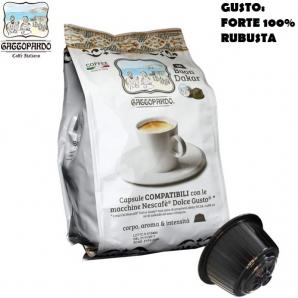 16 CAPSULE TO.DA CAFFE' GATTOPARDO MISCELA QUALITA' GUSTO DAKAR - COMPATIBILI MACCHINE SISTEMI NESCAFE' DOLCE GUSTO 3,99€