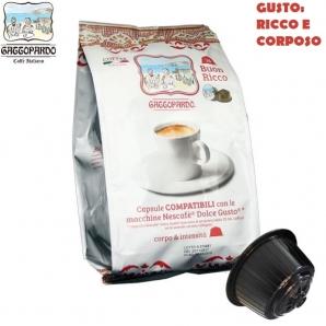 16 CAPSULE TO.DA CAFFE' GATTOPARDO MISCELA QUALITA' GUSTO RICCO - COMPATIBILI SISTEMI NESCAFE' DOLCE GUSTO 3,99€