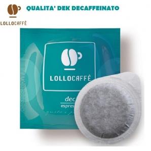 100 CIALDE IN CARTA LOLLO CAFFE' QUALITA' MISCELA DEK DECAFFEINATO - ESE 44MM 18,99€