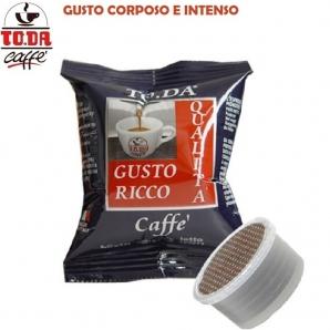 100 CAPSULE TO.DA CAFFE' GATTOPARDO GUSTO RICCO - COMPATIBILI MACCHINETTE SISTEMI LAVAZZA ESPRESSO POINT 17,99€