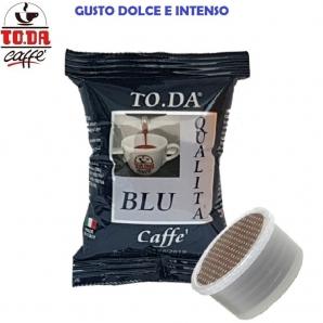 100 CAPSULE TO.DA CAFFE' GATTOPARDO GUSTO BLU - COMPATIBILI MACCHINETTE SISTEMI LAVAZZA ESPRESSO POINT 18,99€
