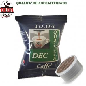 100 CAPSULE TO.DA CAFFE' GATTOPARDO QUALITA' DEK DECAFFEINATO - COMPATIBILI SISTEMI LAVAZZA ESPRESSO POINT 19,99€