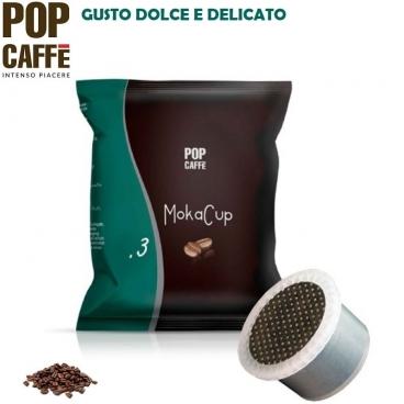50 CAPSULE SIMFED POP CAFFE' - MOKA CUP MISCELA .3 ARABICA | COMPATIBILI CON SISTEMI UNO SYSTEM