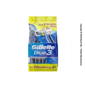RASOI GILLETTE BLUE 3 CON TESTINA 3 LAME USA E GETTA - 1 CONFEZIONE DA 6 PEZZI 4,99€