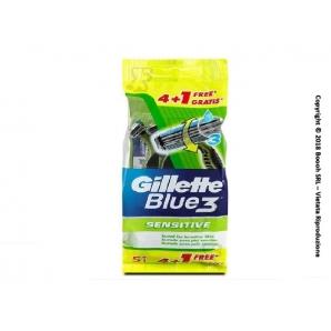 RASOI GILLETTE BLUE 3 SENSITIVE CON TESTINA 3 LAME USA E GETTA - 1 CONFEZIONE DA 5 PEZZI 4,99€