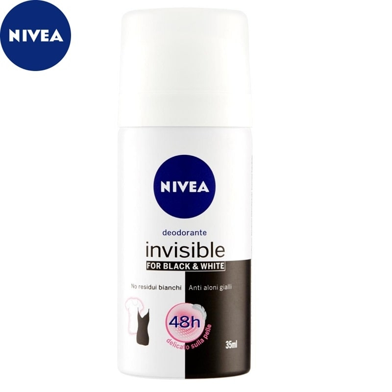 NIVEA DEODORANTE SPRAY INVISIBLE BLACK AND WHITE DONNA DA VIAGGIO - 1 PEZZO 1,98 €