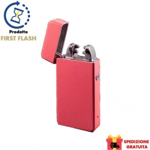 ACCENDINO ANTIVENTO AL PLASMA E-FLAME NOVI, RICARICABILE USB IDEA REGALO - COLORE MAT PINK 46,99 €