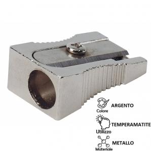 TEMPERAMATITE IN METALLO 1 FORO SCALPELLO - COLORE ARGENTO 0,99€