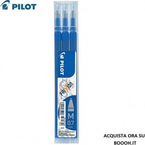 REFILL PENNA PILOT FRIXION CANCELLABILE - 3 CARTUCCE DI COLORE BLU - PUNTA DA 0,7mm 8,74€