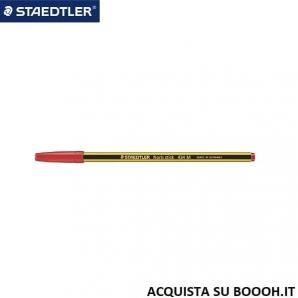 PENNA A SFERA NORIS STICK 434 STAEDTLER - INCHIOSTRO COLORE ROSSO - 1 PEZZO O CONFEZIONE COMPLETA 1,32€