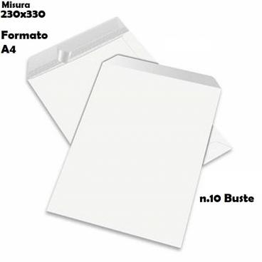 BUSTE A SACCO STRIP COLORE BIANCHE - FORMATO 23X33 GR.80 | SFUSE O CONFEZIONE COMPLETA
