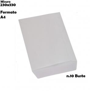 BUSTE A SACCO STRIP COLORE BIANCHE - FORMATO 23X33 GR.80 | SFUSE O CONFEZIONE COMPLETA 3,22€