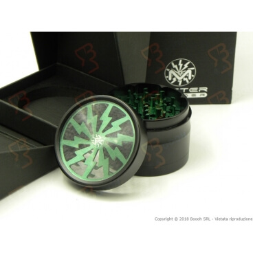 GRINDER VERDE 4 PARTI HIGH QUALITY MASTER IN METALLO FUNZIONE TRITATABACCO  - 1 MASTER GRINDER