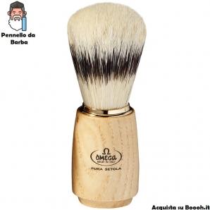 PENNELLO DA BARBA PURA SETOLA OMEGA MODELLO 11150 - MANICO PURO LEGNO 18,42€