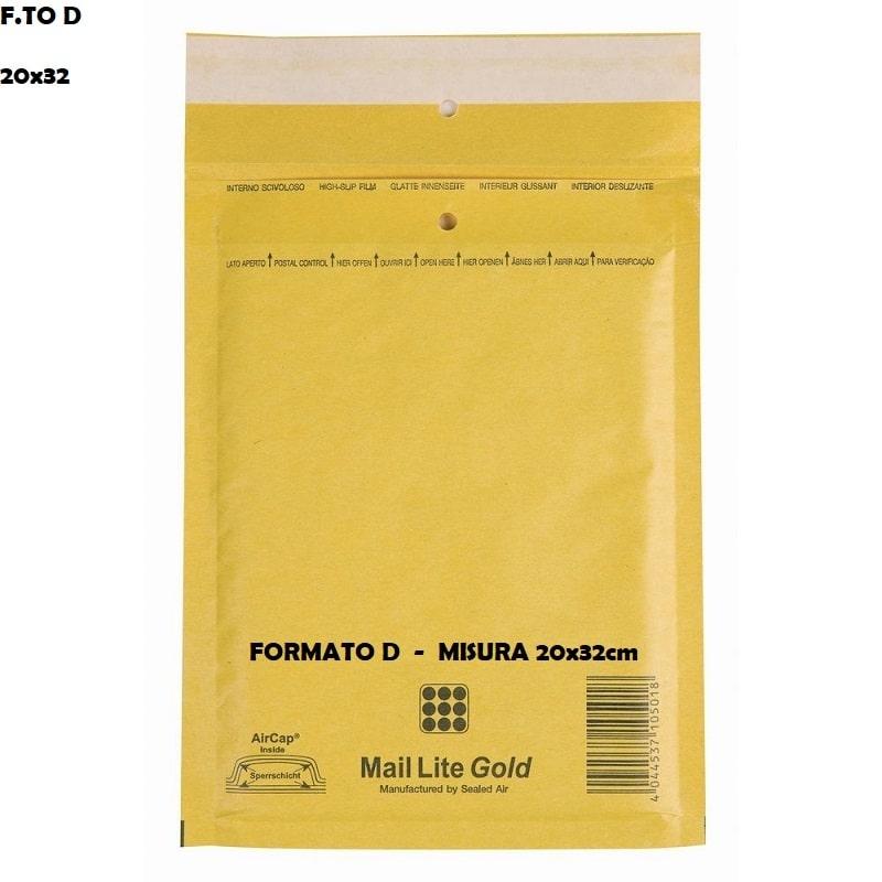 BUSTE POSTALI IMBOTTITE CON PLURIBALL - FORMATO D 20 x 32 | SFUSE O CONFEZIONE COMPLETA 1,27€