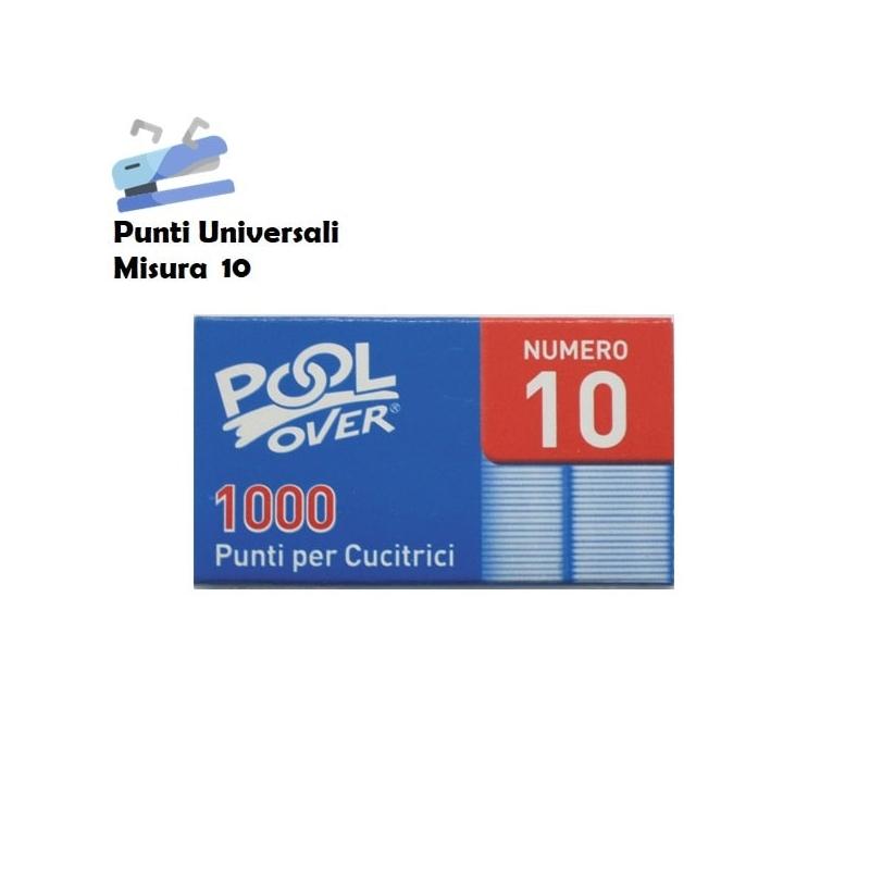 PUNTI UNIVERSALI N.10 PER MINI CUCITRICI SPILLATRICI - 1 SCATOLINA O CONFEZIONE COMPLETA 0,99€